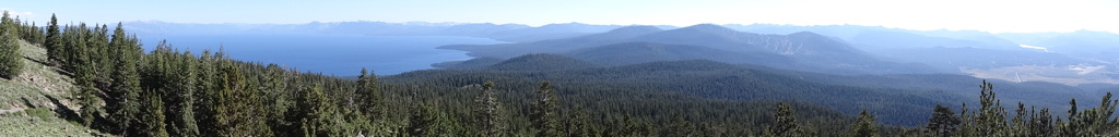 Panorama from Martis Peak near Lake Tahoe