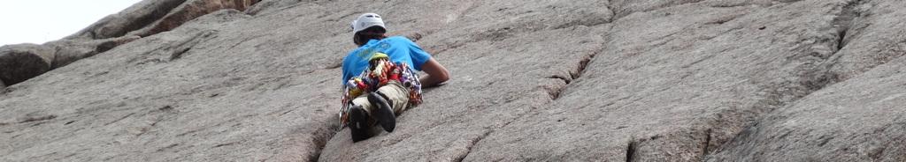 Connor Cronin climbing in Boulder Canyon, Colorado.