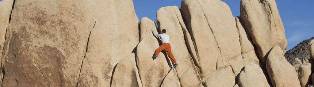 Climbing at Joshua Tree National Park.
