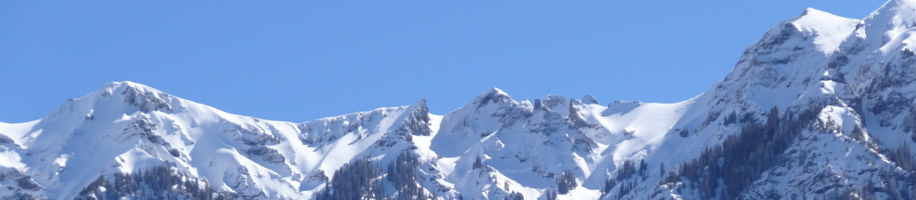 Snowy ridgeline viewed from Ouray, Colorado